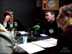 Richard on the radio, speaking out for gay clergy, 2005